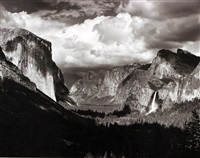 thunderstorm, yosemite valley by ansel adams