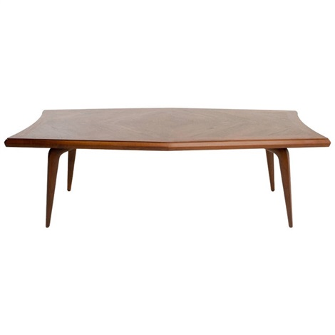 Walnut, Diamond Shaped Table By Monteverdi Young