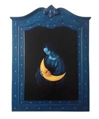 la noche duerme a la luna by rubén alpízar