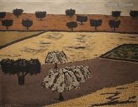 campos con olivos y encinas by godofredo ortega muñoz