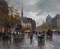 place st. michel by edouard léon cortès