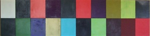 """untitled (20 pieces of 14"""" squares) by carlos vega"""