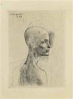 buste d'homme from la suite des saltimbanques by pablo picasso