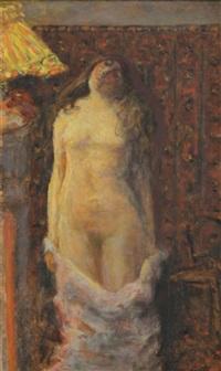 femme nue à la lampe by pierre bonnard