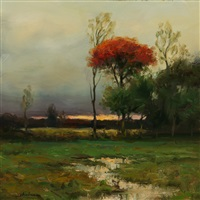early autumn evening (sold) by dennis sheehan
