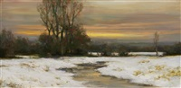 tranquil evening (sold) by dennis sheehan