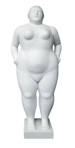 standing woman with hands on her hips by fernando botero