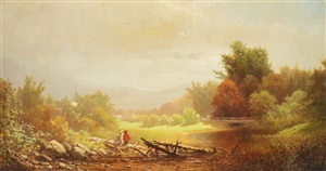 new england landscape by andrew fisher bunner
