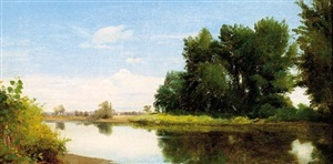 along the esopus river, kingston, new york by william m. hart