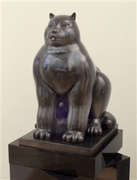 cat by fernando botero