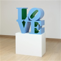 love (blue outside green inside) by robert indiana