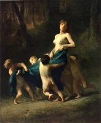 l'amour vainqueur by jean françois millet