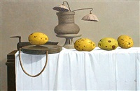 still life with quince by hai-gyu yoon