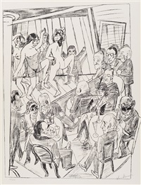 striptease by max beckmann