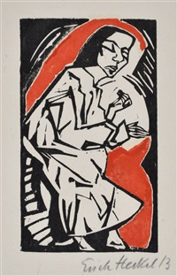 reclining woman by erich heckel
