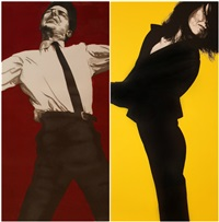 jules & gretchen (2 works; from the men in the cities series) by robert longo