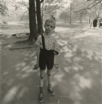 child with a toy hand grenade in central park, n.y.c. by diane arbus
