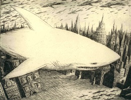 shark in the city by artem mirolevich