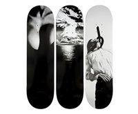 skateboards (set of 3) by robert longo