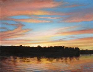 summer dusk by nicora gangi