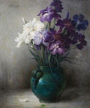 oriental iris-6 varieties by john ferguson weir