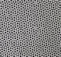 'trois trames de tirets minces, 0°, 60°, 120°' by françois morellet