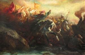 traversée de la mer rouge par les hébreux by edward alexandre odier