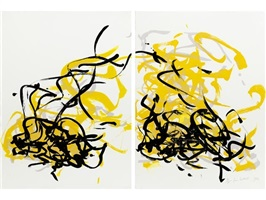 weeds i (diptych) by joan mitchell