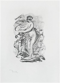 femme au cep de vigne, i variante (woman by the grapevine, first variant) by pierre-auguste renoir