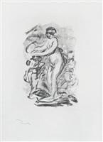 femme au cep de vigne, i variante (woman by the grapevine, first variant) by pierre-auguste renoir
