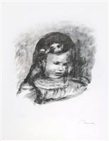 claude renoir, la tête baissée (claude renoir, head lowered) by pierre-auguste renoir