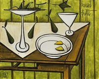 nature morte aux poires by bernard buffet