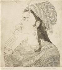 mughal lady by abdur rahman chughtai