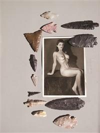 collection préhistorique, (femme fatale et collection de silex de philippe dagen) by camille henrot