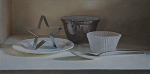 still life with cookie cutter by lucy mackenzie