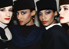 """""""the many shades up beauty"""" violetta sanchez, gloria burgess, mounia and ysl model, paris by roxanne lowit"""