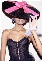 """""""pretty in pink"""" ysl model by roxanne lowit"""