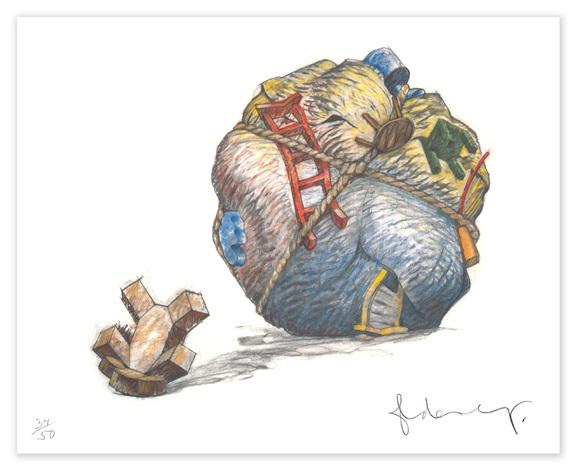 houseball with fallen toy bear by coosje van bruggen and claes oldenburg
