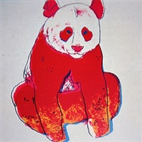 giant panda by andy warhol