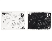 map of eastern ussr missile bases 1984-1985 (white) map of eastern ussr missile bases 1984-1985 (black) by andy warhol
