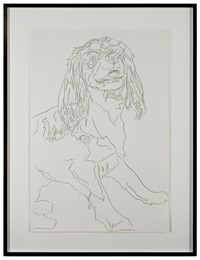 """dog (""""pom"""") by andy warhol"""