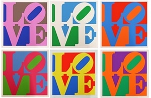 a garden of love by robert indiana