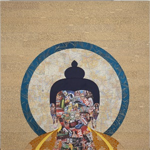parallel realities contemporary tibetan art by tenzing rigdol