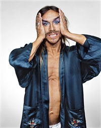 iggy pop in blue robe. new york by martin schoeller