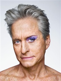 michael douglas with eyeshadow. new york by martin schoeller