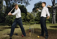 george clooney and brad pitt. antibes by martin schoeller