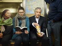 robert de niro on subway. brooklyn, new york by martin schoeller