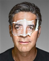 george clooney with mask. brooklyn, new york by martin schoeller