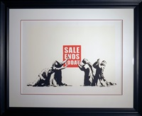 sale ends unsigned by banksy