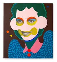 large square (green hair, light pink face) by paul insect